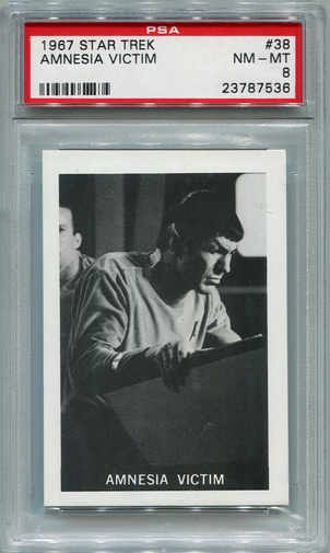 1967 Leaf Star Trek - Amnesia Victim #38 PSA 8 (#7536)