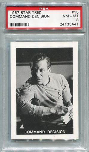 1967 Leaf Star Trek - Command Decision #15 PSA 8