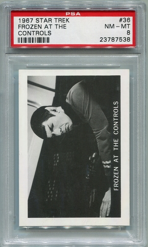 1967 Leaf Star Trek - Frozen At The Controls #36 PSA 8 (#7538)