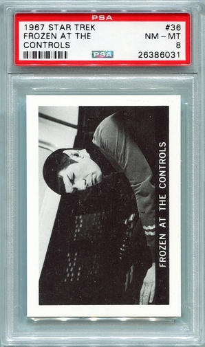 1967 Leaf Star Trek - Frozen At The Controls #36 PSA 8 (#6031)