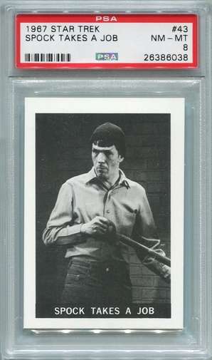 1967 Leaf Star Trek - Spock Takes A Job #43 PSA 8