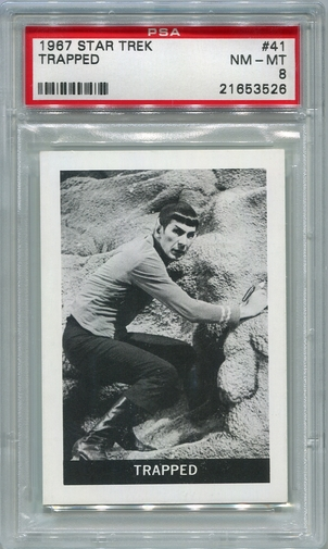 1967 Leaf Star Trek - Trapped #41 PSA 8 (#3526)