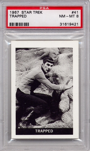 1967 Leaf Star Trek - Trapped #41 PSA 8 (#9421)