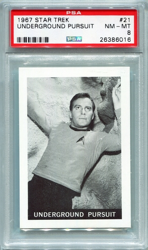 1967 Leaf Star Trek - Underground Pursuit #21 PSA 8 (#6016)