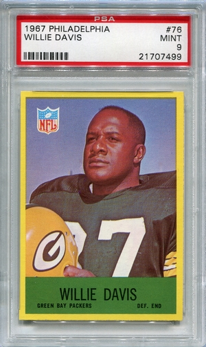 1967 Philadelphia Willie Davis #76 PSA 9