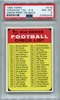 1968 Topps 2nd Series Checklist 132-218 Green Back #219 PSA 8