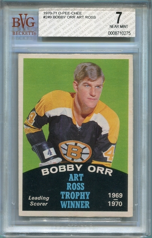 1970 O-Pee-Chee Bobby Orr - Art Ross Trophy Winner #249 BVG 7