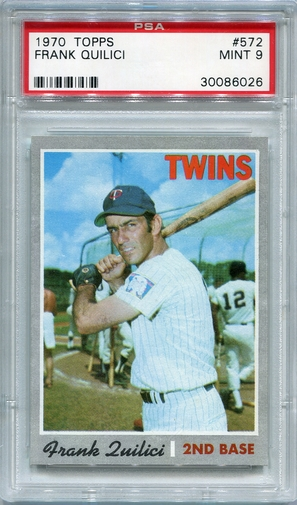 1970 Topps Frank Quilici #572 PSA 9
