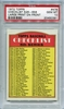 1972 Topps 5th Series Checklist 526-656 #478 PSA 10
