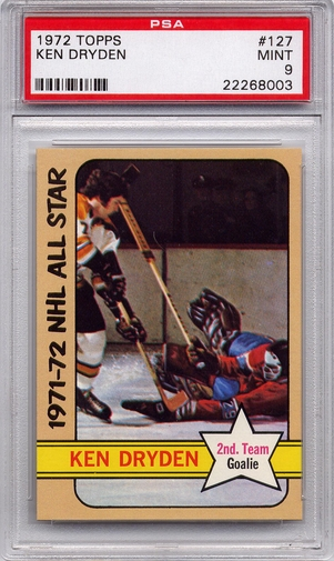 1972 Topps Ken Dryden All Star #127 PSA 9