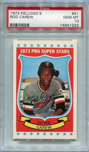 1973 Kellogg's Rod Carew #51 PSA 10