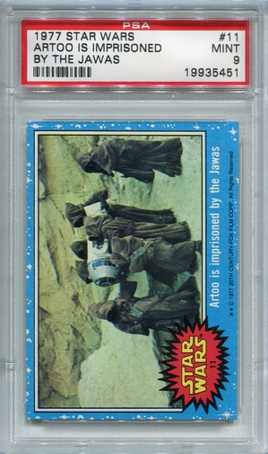 1977 Star Wars - Artoo Is Imprisoned By The Jawas #11 PSA 9