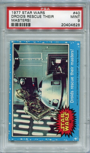1977 Star Wars - Droids Rescue Their Masters! #40 PSA 9