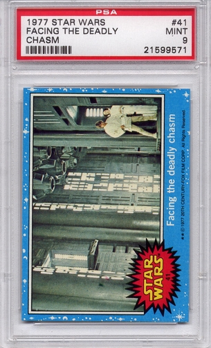 1977 Star Wars - Facing The Deadly Chasm #41 PSA 9