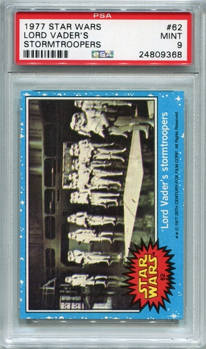 1977 Star Wars - Lord Vader's Stormtroopers #62 PSA 9