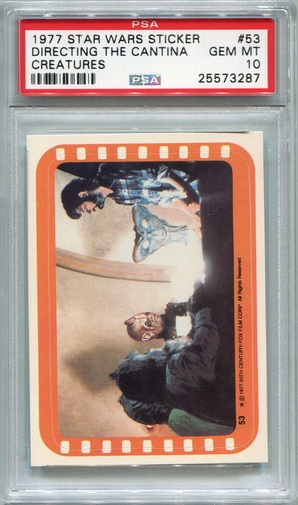 1977 Star Wars Sticker - Directing The Cantina Creatures #53 PSA 10
