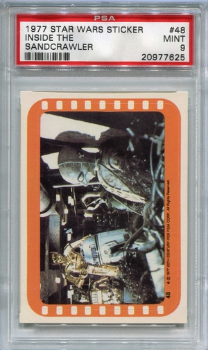 1977 Star Wars Sticker - Inside The Sandcrawler #48 PSA 9