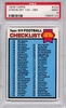 1979 Topps Football Checklist 133-264 #232 PSA 9