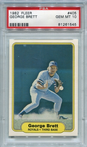 1982 Fleer George Brett #405 PSA 10