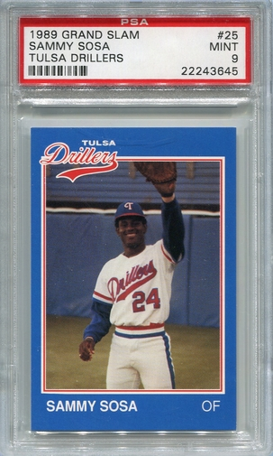 1989 Grand Slam Sammy Sosa #25 PSA 9