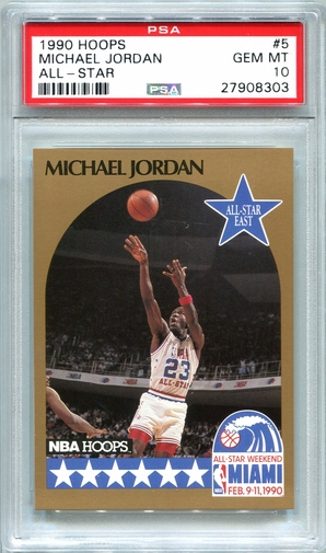 1990 Hoops All-Star Michael Jordan #5 PSA 10