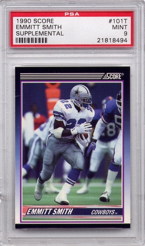 1990 Score Supplemental Emmitt Smith #101T PSA 9