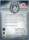 2000 Upper Deck Legendary Signatures Johnny Bench Autograph #S-JB