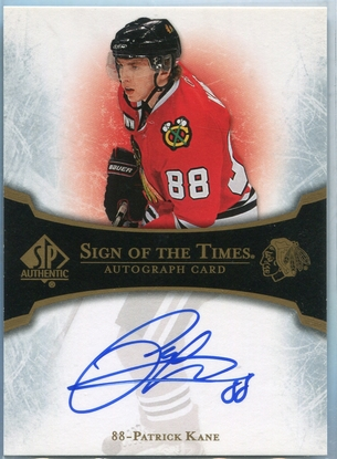 2007 Upper Deck SP Authentic Sign of the Times Patrick Kane Rookie Autograph #ST-PK
