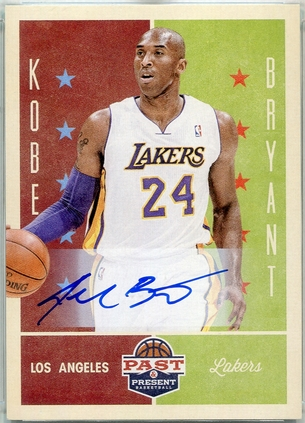 2012 Panini Past And Present Kobe Bryant Autograph #70