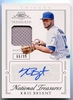 2015 Panini National Treasures Treasured Material Kris Bryant Rookie Autograph #58 #66/99