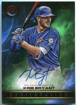 2016 Topps Legacies of Baseball Kris Bryant Autograph #EA-KB - Exhilaration #45/99
