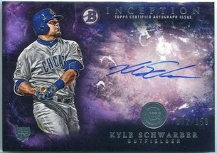 2016 Bowman Inception Kyle Schwarber Rookie Autograph #RA-KS #82/150