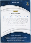 2016 Panini Immaculate Collection Kris Bryant Autograph #DI-KB #92/99