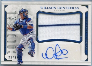 2016 Panini National Treasures Colossal Willson Contreras Autograph #CS-WC #23/99