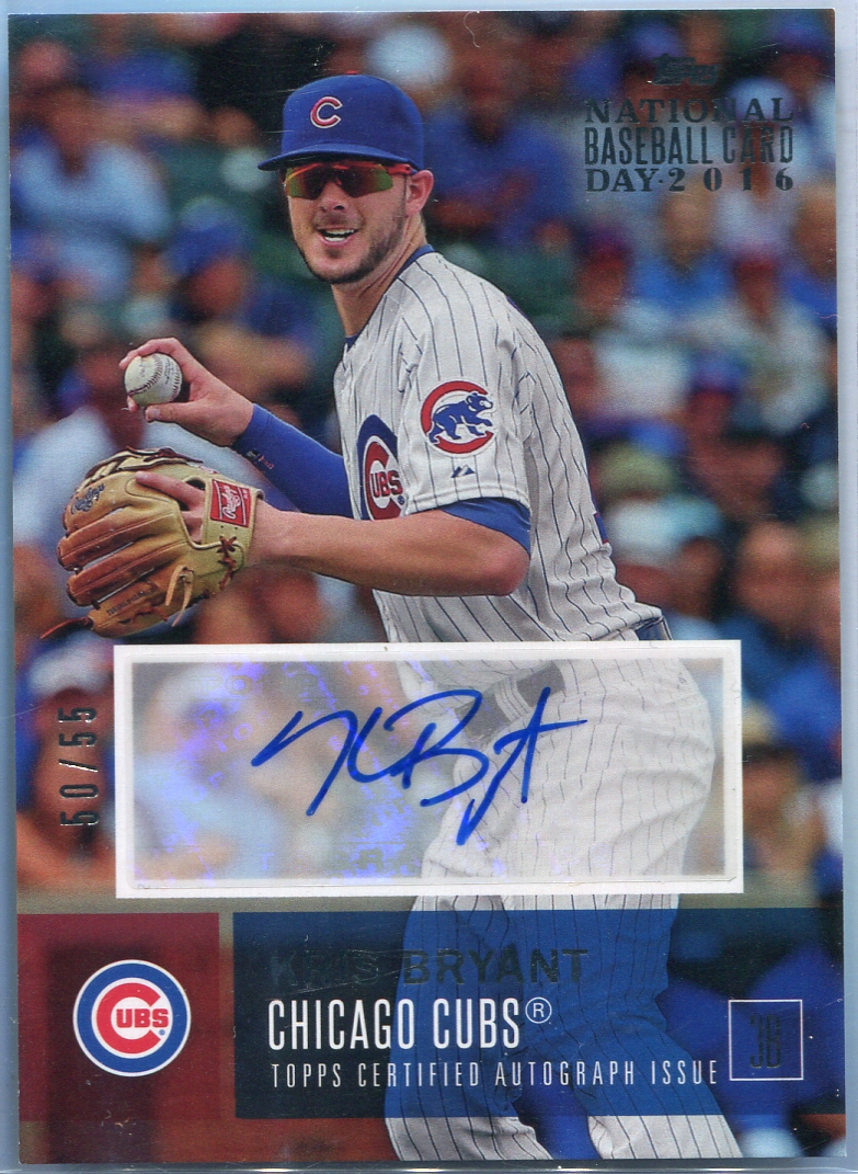 2016 Topps National Baseball Card Day Kris Bryant Autograph A Kb