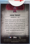 2016 Topps Series One Scouting Report Mike Trout Autograph #SRA-MT