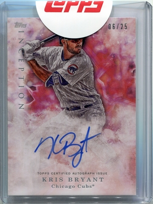 2017 Topps Inception Kris Bryant Autograph #06/25