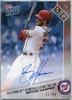 2017 Topps Now Bryce Harper Autograph #6B #25/49