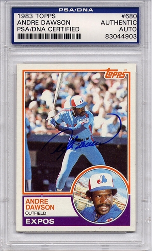 Andre Dawson PSA/DNA Certified Authentic Autograph - 1983 Topps