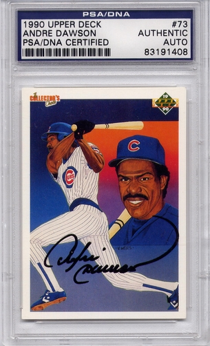 Andre Dawson PSA/DNA Certified Authentic Autograph - 1990 Upper Deck