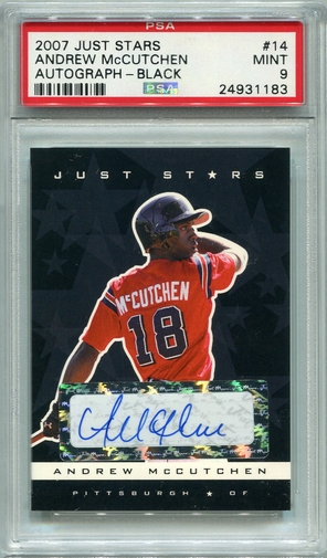 Andrew McCutchen PSA/DNA Certified Authentic Autograph - 2007 Just Stars