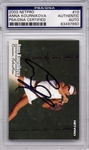 Anna Kournikova PSA/DNA Certified Authentic Autograph - 2003 Netpro