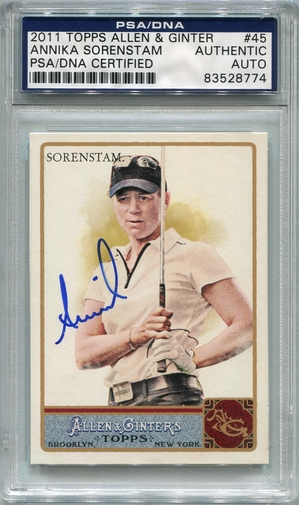 Annika Sorenstam PSA/DNA Certified Authentic Autograph - 2011 Allen & Ginter