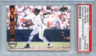 Barry Bonds PSA/DNA Certified Authentic Autograph - 1999 Pacific