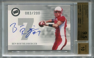Ben Roethlisberger Rookie BGS Certified Authentic Autograph - 2004 Press Pass Silver