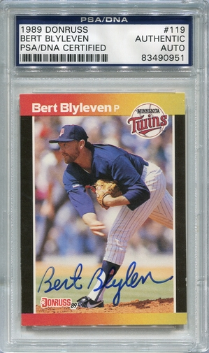 Bert Blyleven (HOF) PSA/DNA Certified Authentic Autograph - 1989 Donruss