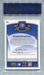 Billy Williams PSA/DNA Certified Authentic Autograph - 2005 UD Past Time Pennants
