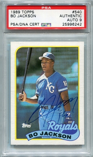 Bo Jackson PSA/DNA Certified Authentic Autograph - 1989 Topps
