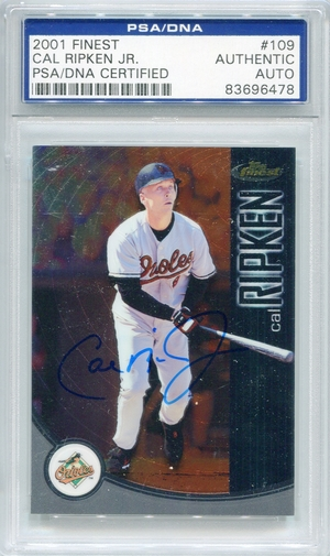 Cal Ripken Jr. PSA/DNA Certified Authentic Autograph - 2001 Finest