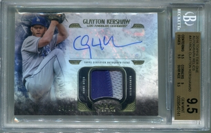 Clayton Kershaw BGS Certified Authentic Autograph - 2016 Topps Tier One Relics #24/50